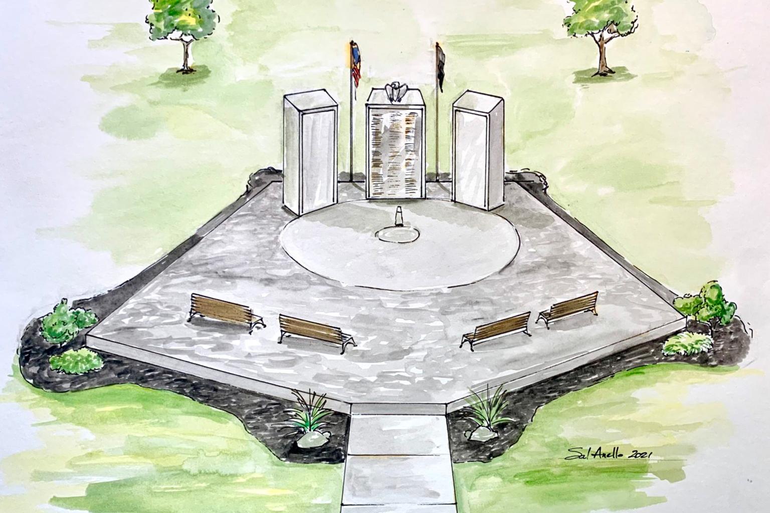 Veterans Memorial Park rendering
